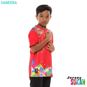 Jersi Sukan 2020 ( MERAH ) - BOY,  XS - XL