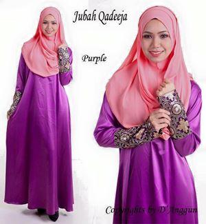 Jubah Qadeeja Purple