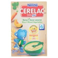Nestlé Cerelac Rice & Mixed Vegetables Infant Cereal with Milk From 6 Months 250g
