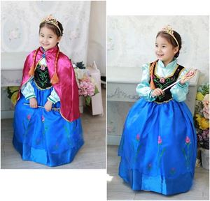 Frozen Dress - Anna Costume with Cape