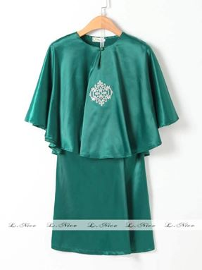 Baju Kurung Batwing - Green