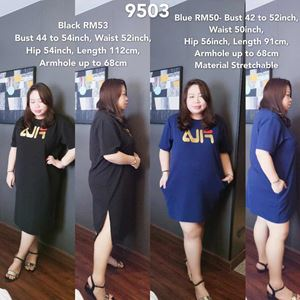 9503 Ready Stock *Bust 42 to 54 inch/ 106-137cm