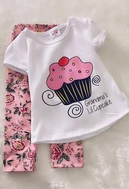 Girl Set Cupcake With Floral Pink Pant (2y - 3y)