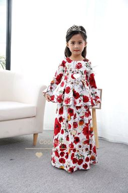 Peplum Dress Flower - 03