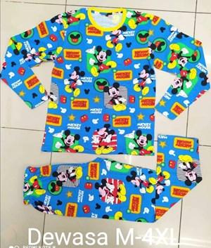 SIZE 3XL DEWASA Pyjamas MICKEY INVISIBLE BLUE