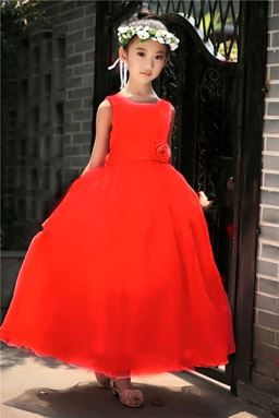 RED TRAILING CLAIRA BALL GOWN