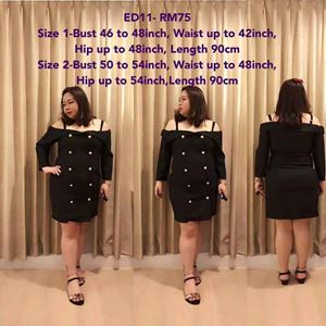 ED11 * Ready Stock * Bust 46 to 54inch/ 116-137cm