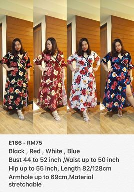 E166 Ready Stock *Bust 42-52 inch/107-132cm