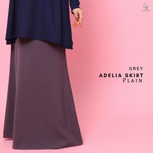 Adelia Skirt Plain : Grey