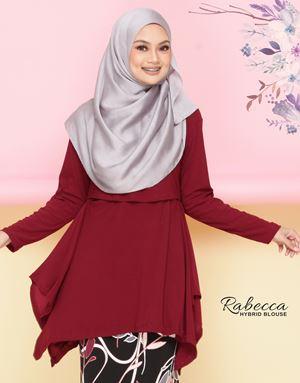 Rabecca Blouse Plain - Maroon