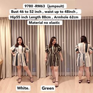 9780 *Ready Stock *Bust 46 to 52 inch/ 116-132cm