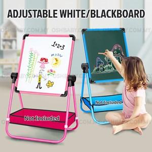 ADJUSTABLE WHITE/BLACKBOARD