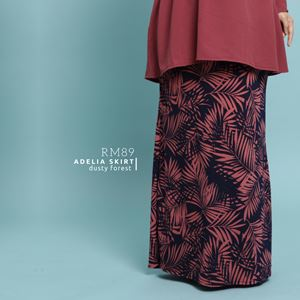 Adelia Skirt Printed : Dusty Forest