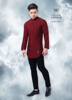 Kurta Ammar For Him (Scarlet Red)