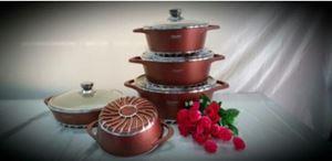 PREMIUM 10 Regina Dessini Italy Cooking Set High Class Non Stick Ceramic Cookware Pot