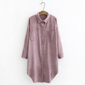 Corduroy Overshirt (Dusty Purple)