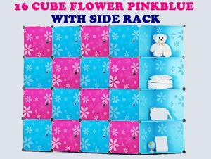 16 CUBE FLOWER PINKBLUE WITH SIDE RACK N00738