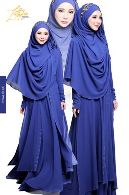 JUBAH LUTHFIA - ROYAL BLUE
