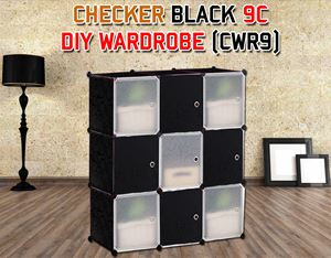 CHECKER BLACK 9C DIY WARDROBE (CWB9)