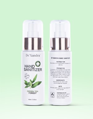 Green Tea - De'Xandra Hand Sanitizer 60ml