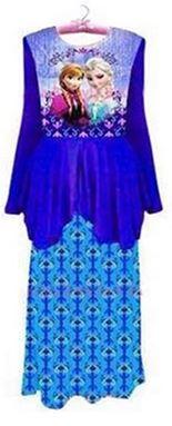 @  FROZEN PEPLUM BAJU KURUNG  ( BLUE )