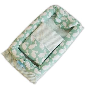 Baby Bedding Set-Green Rabbit