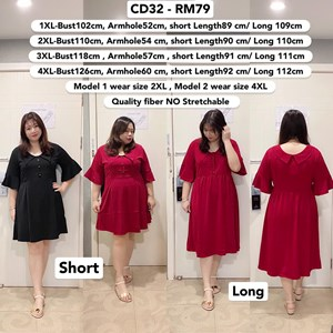 CD32 *Ready Stock *Bust 39 to 49 inch/ 100-126cm