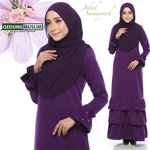 JUBAH SUMAYYAH - PURPLE  COLOR