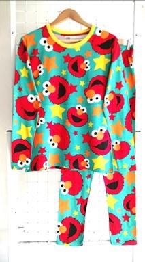 SIZE XL DEWASA Pyjamas ELMO STAR GREEN (HELAL)