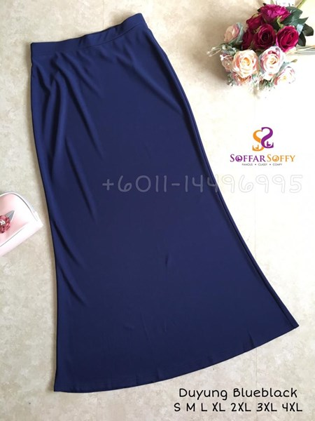 SKIRT DUYUNG BLUEBLACK