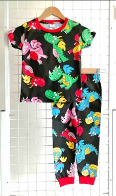 Pyjamas CUTE DRAGON BLACK : BABY 12M - 36M (GL)