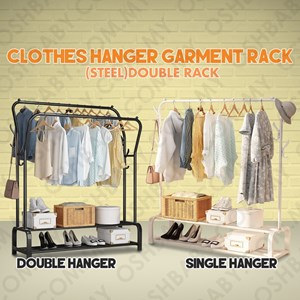 CLOTHES HANGER GARMENT RACK(STEEL)