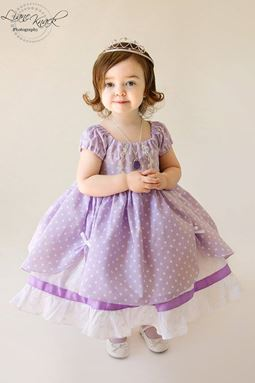 Sofia Dress ~ Purple