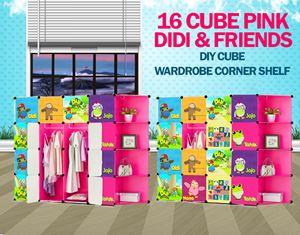 Didi & Friends Pink 16C DIY Cube w Corner Rack  (DD16CP)
