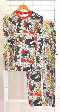 SIZE XL -  2XL DEWASA Pyjamas TOM AND JERRY GREY (JR)