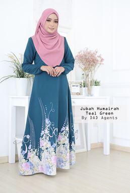 Jubah Humairah Teal Green