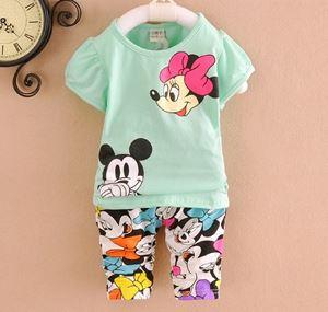 Baby Clothing Set - Green Minnie