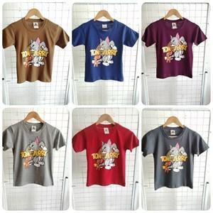 T-Shirt Boy Short Sleeve Tom & Jerry: Size 10-16 (7 - 12 tahun)