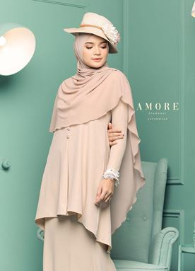 BLOUSE AMORE LACEY -  BEIGE