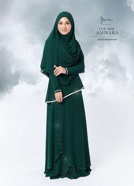 JUBAH AMMARA - EMERALD GREEN