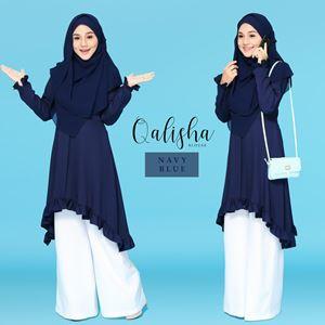 BLOUSE QALISHA - NAVY BLUE