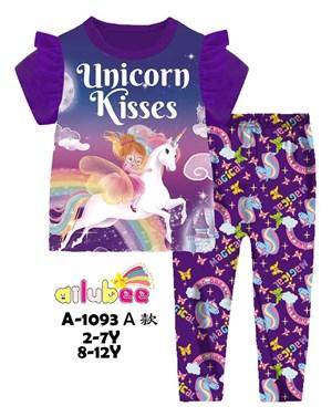 @  AILUBEE UNICORN KISSES  SLEEPWEAR ( A1093A  ) SZ  2Y - 12Y
