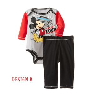 ROMPER SET  B - MINNIE BROWN ROMPER & PANTS SET