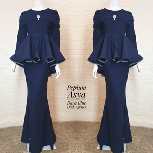 Peplum Asya Dark Blue