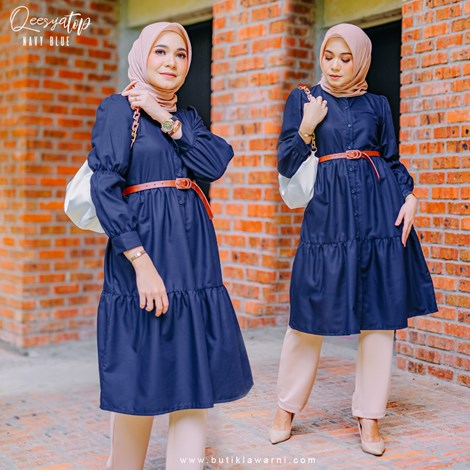 QEESYA TOP NAVY BLUE