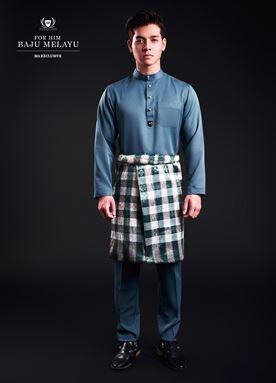 Baju Melayu For Him (Coral Blue)