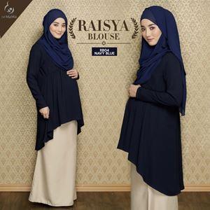 Raisya Blouse : Navy Blue