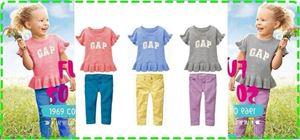 GAP 2 IN 1 GIRL SET ( TOP + PANT )