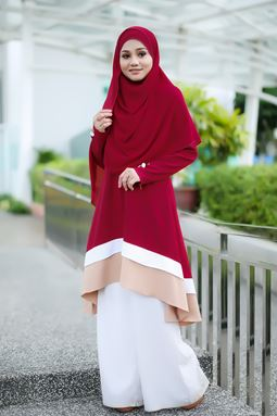BLOUSE NAURA - DARK RED
