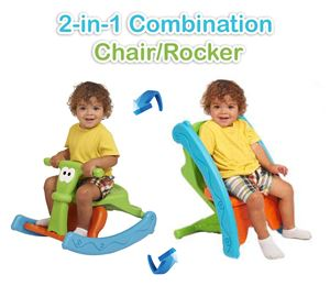 2-in-1 Combination Chair/Rocker